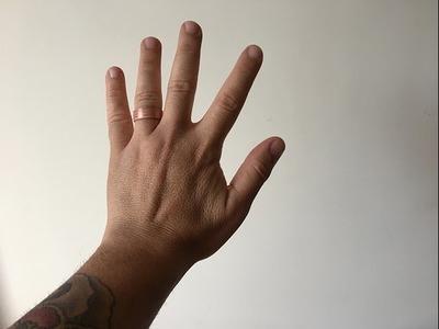 Graba y fabrica tus anillos de cobre