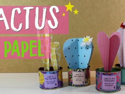 ¡¡Aprende a hacer Cactus de Papel!! #Umamanualidades