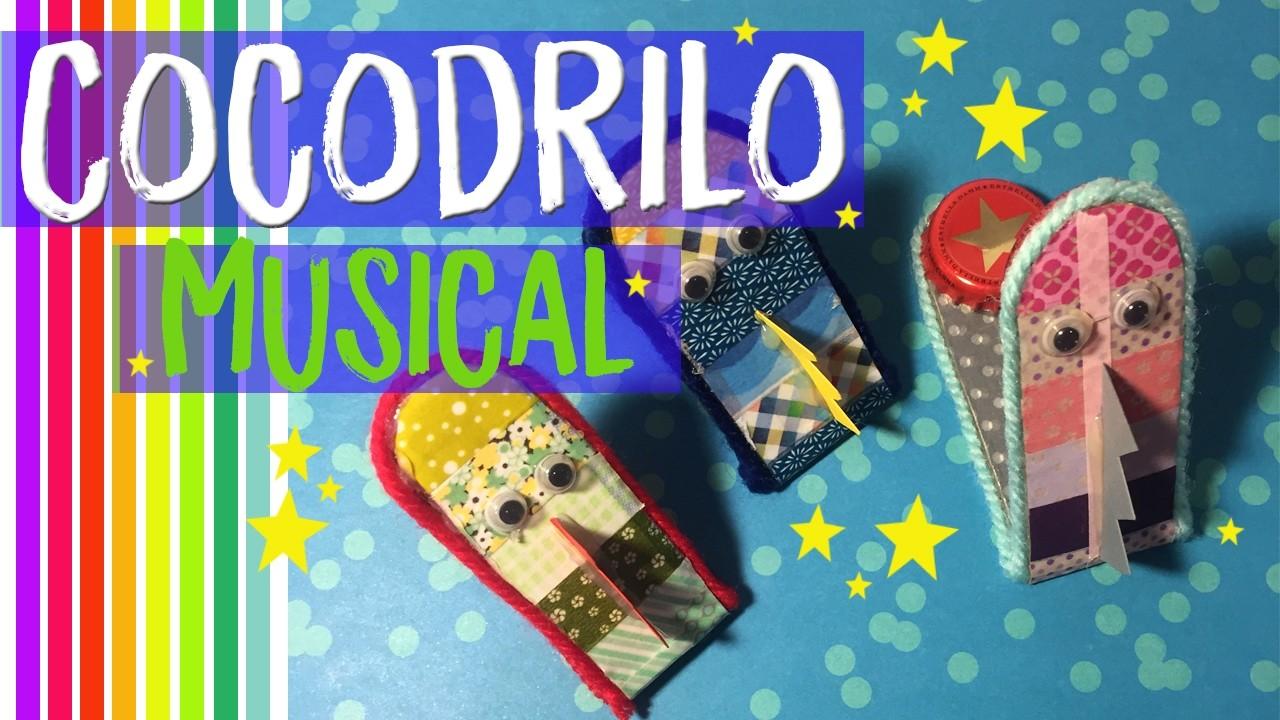 ¡¡Cocodrilos de cartón musicales!! ¿Cómo hacer manualidades de cocodrilos para niños?