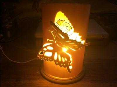 Lámpara pvc para buró 3D