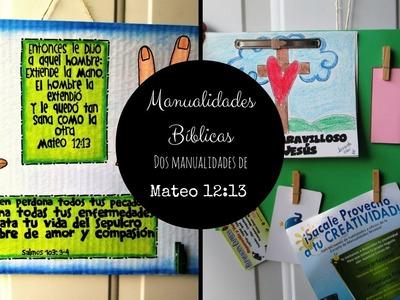 Manualidades Bíblicas. Historia de Mateo 12:9. Sanación de la mano seca