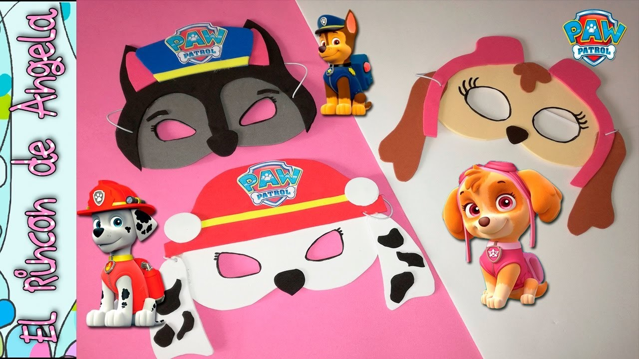Mascaras para carnaval de la patrulla canina, caretas de carnaval ,cumpleaños tematicos, paw patrol