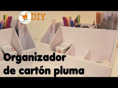 Organizador de Escritorio con Cartón pluma - Materialescolar.es
