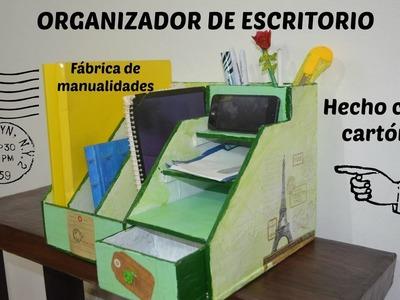 Organizador de Escritorio, hecho con cartón