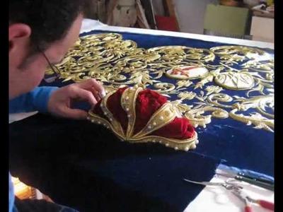 Proceso de realización del nuevo palio de la Virgen de Belén de Pilas