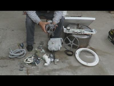 RECICLAJE  Que Podemos Recuperar de una Lavadora ?.RECYCLING What Can We Reclaim From a Washer?