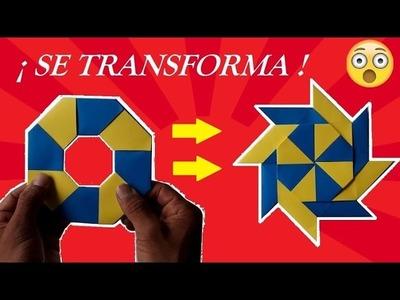 Shuriken Origami Transformer - Estrella Ninja MÁGICA que se Transforma★
