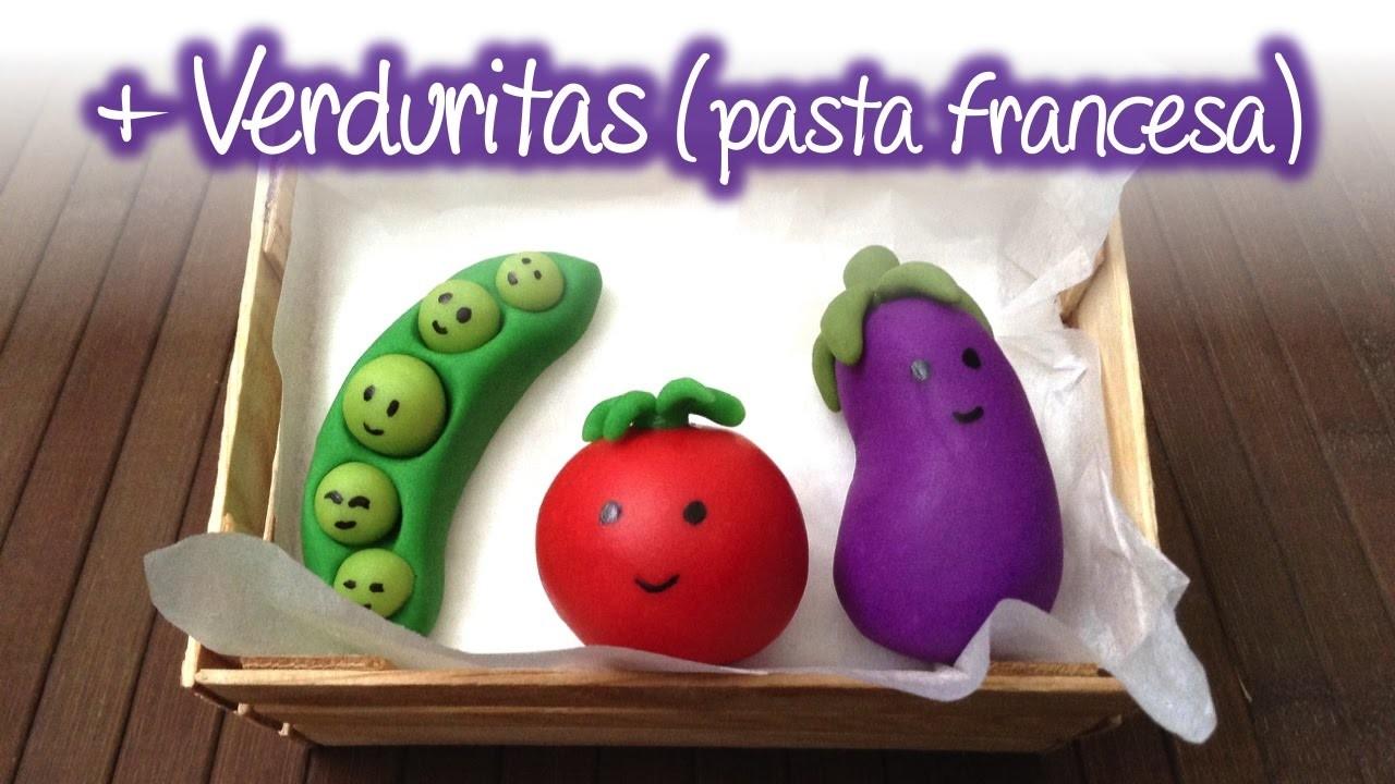 Verduras de pasta francesa (Parte 2), Cold porcelain vegetables