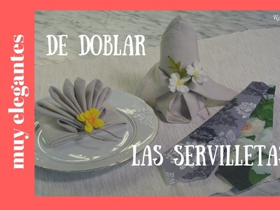3 Formas de doblar servilletas para celebraciones