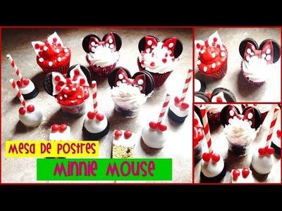 5 Ideas para Mesa de Postres de Minnie mouse │ Pipopu Cakes