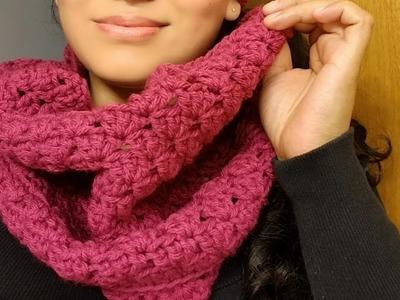 ????Bufanda Circular Infinita a Crochet(ganchillo)