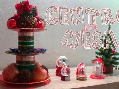 Centro de mesa navideño reciclando│Candy Bu