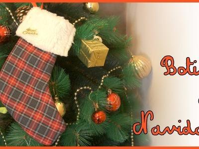 CHRISTMAS DIY | Cómo hacer una botita navideña (Christmas sock)