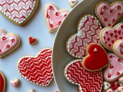 Cómo Decorar Galletas En Forma De Corazón Con Glasé Real
