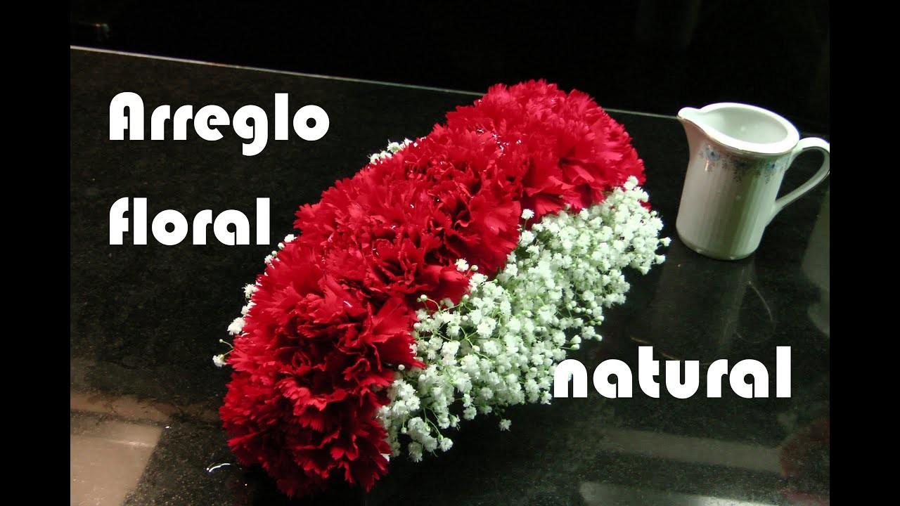 Como hacer ARREGLO FLORAL con CLAVELES rojos. Centro de mesa. Flores naturales. Centerpiece