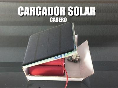 Como hacer un cargador solar. I DIY I Solar Powerbank I