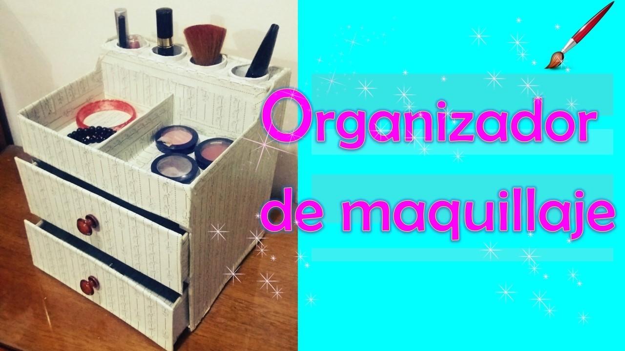⭐COMO HACER un ORGANIZADOR para MAQUILLAJE ????- DIY