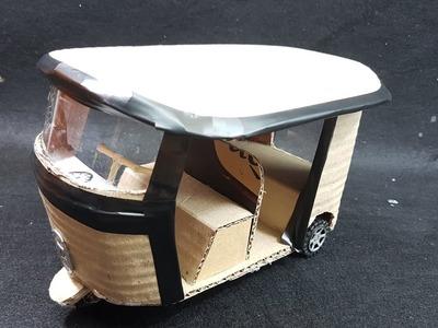 Cómo hacer un Rickshaw eléctrico (Tuk Tuk) con cartón