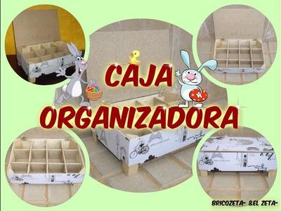 Cómo Hacer Una Caja Organizadora Reciclando Una Caja De Madera De La Fruta