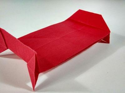 Como hacer una cama de papel súper fácil - Origami para principiantes