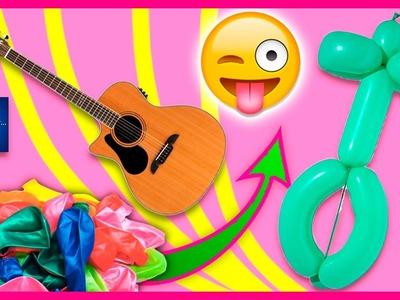 Cómo hacer una GUITARRA con GLOBOS. GLOBOFLEXIA para NIÑOS ✅  Top Tips & Tricks en 1 minuto