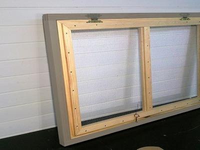 Cómo hacer una ventana con malla de ventilación