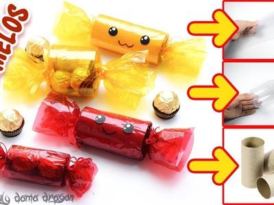 Dulceros en forma de caramelos kawaii Reutilizando Materiales