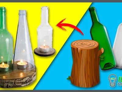 Ecological CANDLE HOLDER with BOTTLES * PORTAVELAS Ecológico con BOTELLAS ✅  Top Tips en 1 minuto