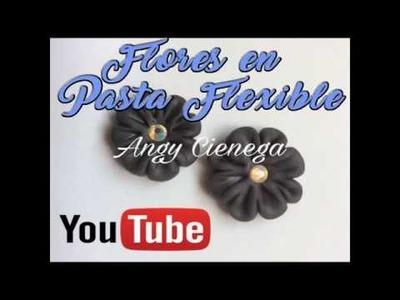 Flor en pasta flexible. Flor en porcelana fría