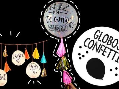 GLOBOS CONFETTI! (con y sin helio) ✄ Barbs Arenas Art!