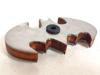 Haciendo un Batman Fidget Spinner | Acero y madera