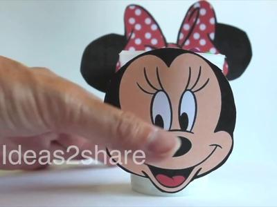 Haz una Minnie Mouse para poner chuches ???? en tu fiesta . Locos por el DIY