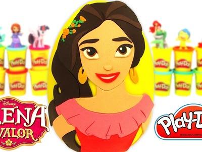 Huevo Sorpresa Gigante de Elena de Avalor en Español de Plastilina Play Doh