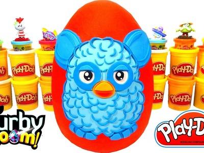 Huevo Sorpresa Gigante de Furby en Español de Plastilina Play-Doh