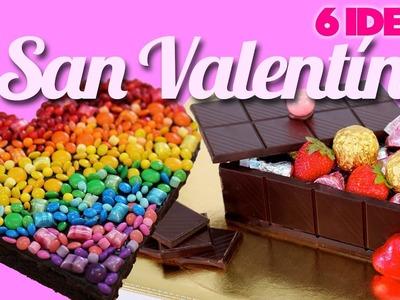 IDEAS DE POSTRES PARA SAN VALENTÍN - Caprichos Comestibles | Brownie de Corazón ArcoIris