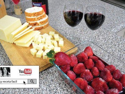 IDEAS PARA EL 14 DE FEBRERO ♥♥♥   Fresas al Vino Tinto