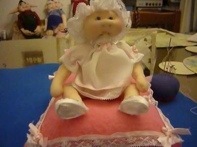 Muñecos soft-Centro de mesa para bautizo de nena(terminado)Tutorial 5-parte 7.7