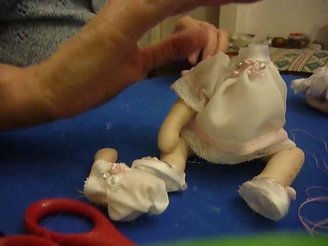Muñecos soft-Centro de mesa para bautizo de nena(pegamos la muñequita)-Tutorial 5-parte 6.7