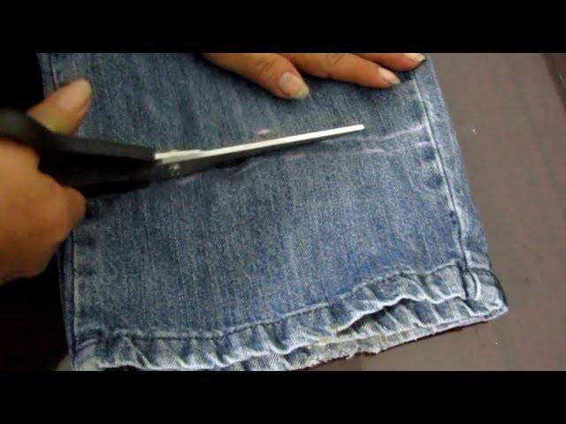 Reducir Largo de Pantalón Jean [Tutorial]