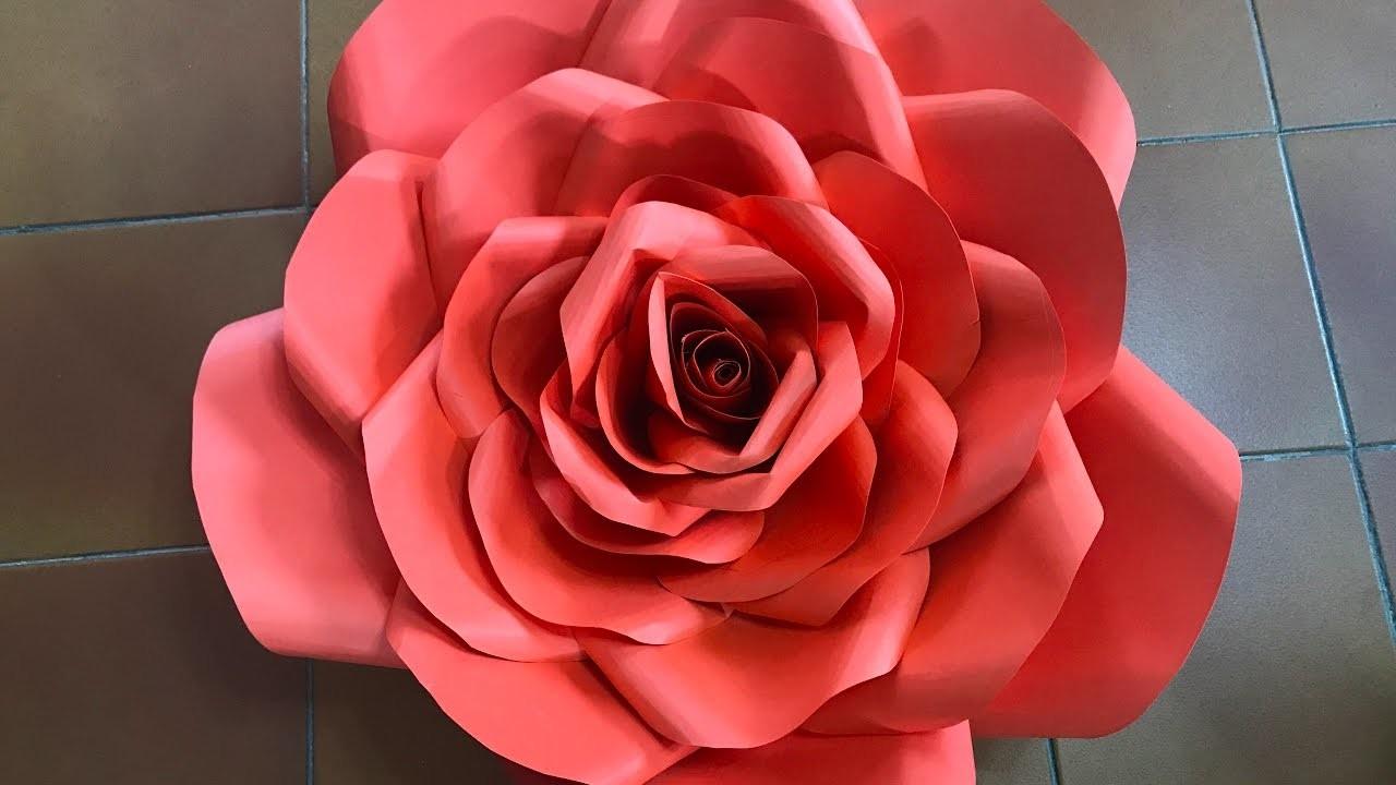 Rosa grande 22 de papel    Big rose in paper
