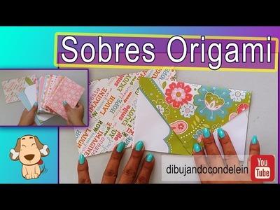 Tutorial como hacer sobres origami .  Ábrelo cuando