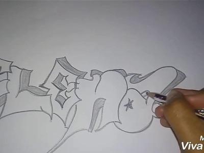 """Aprendiendo hacer un grafiti con el nombre de """"ELENA"""""""