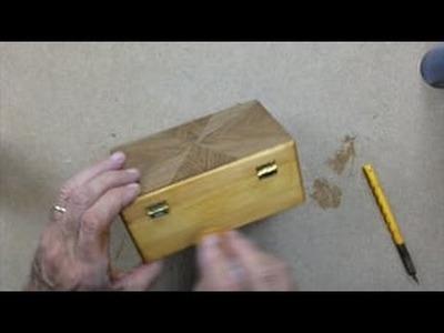 Combinado de Chapas de Marquetería en Forma de Sol. Aplacado en cajita de madera. HD