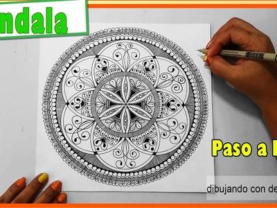 Como dibujar un mandala #4, semilla de la vida o seed of life