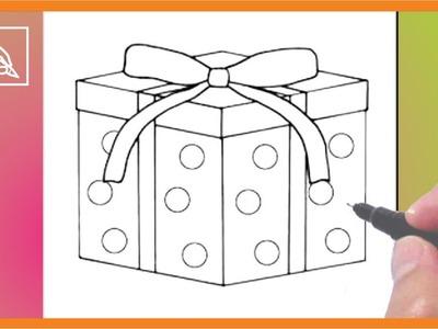 Cómo Dibujar Un Regalo De Navidad 2 - Drawing a Christmas Gift 2 | Dibujando