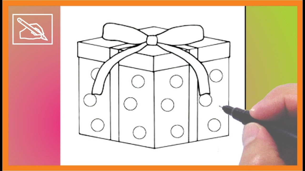 Cómo Dibujar Un Regalo De Navidad 2 - Drawing a Christmas Gift 2   Dibujando