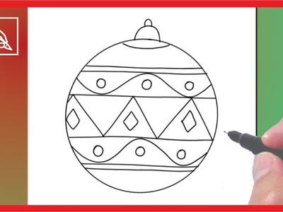 Cómo Dibujar Una Esfera De Navidad 2 - Drawing a Christmas Sphere 2 | Dibujando