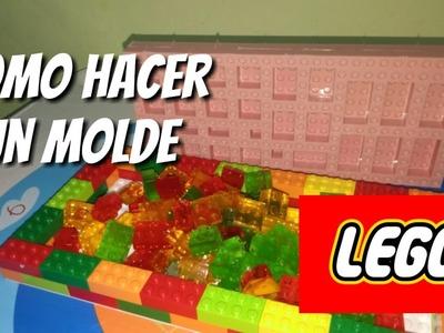 Como hacer molde Lego para gomitas