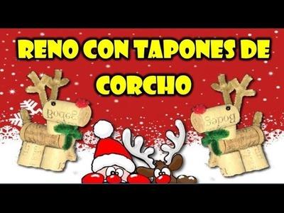 COMO HACER UN RENO CON TAPONES DE CORCHO | RECICLAJE |