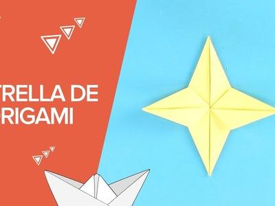 Cómo hacer una estrella de origami paso a paso | Papiroflexia infantil